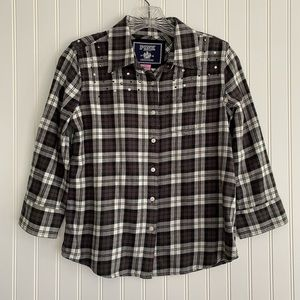 PINK Victoria's Secret plaid flannel shirt SIZE SP